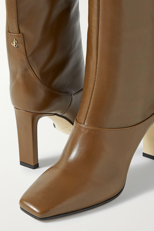 Jimmy Choo Mahesa 85 leather knee boots