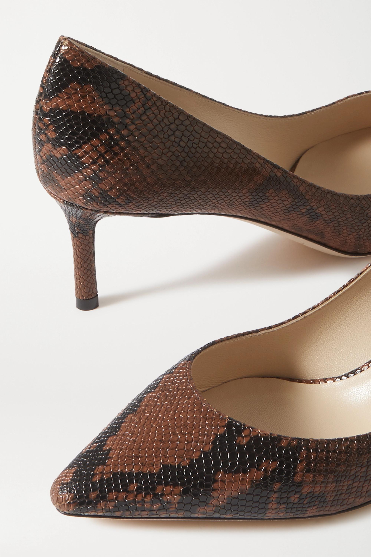 Jimmy Choo Romy 60 snake-print leather pumps