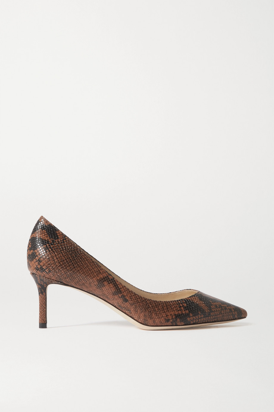 Jimmy Choo Romy 60 snake-print leather pumps