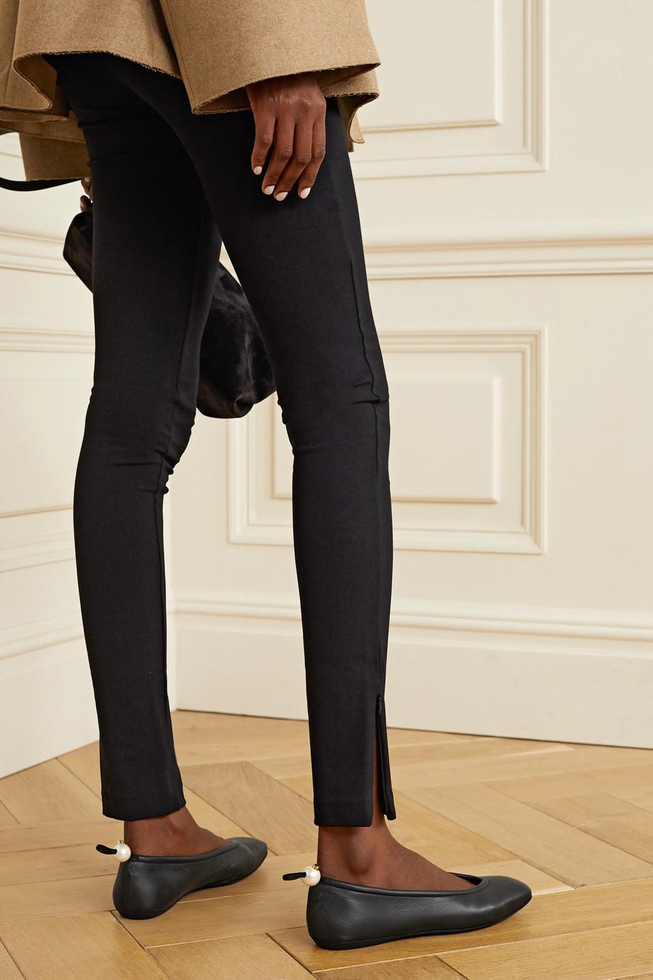 Nicholas Kirkwood Delfi faux pearl-embellished leather ballet flats