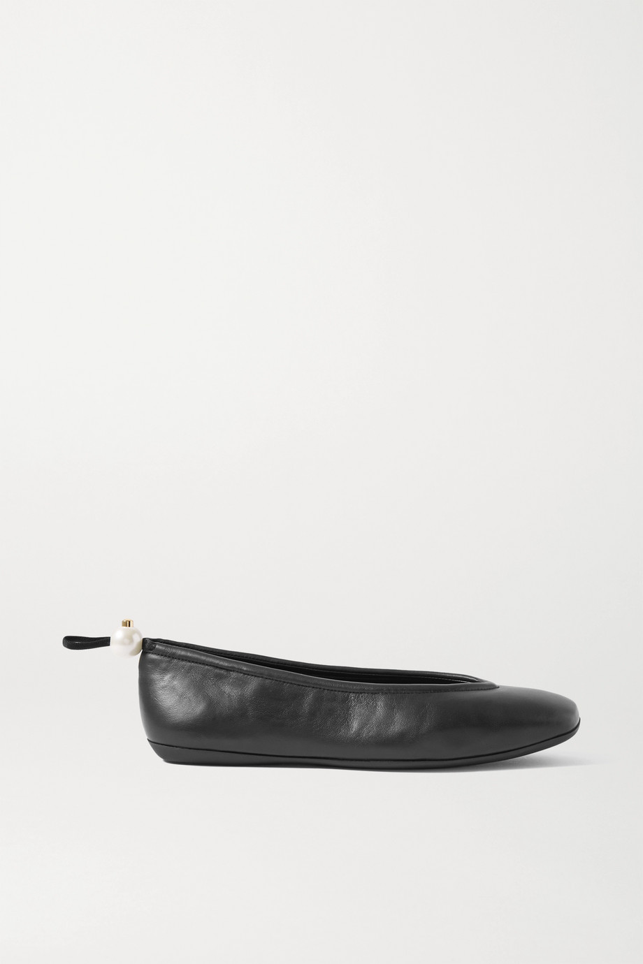 Nicholas Kirkwood Delfi 人造珍珠缀饰皮革芭蕾平底鞋