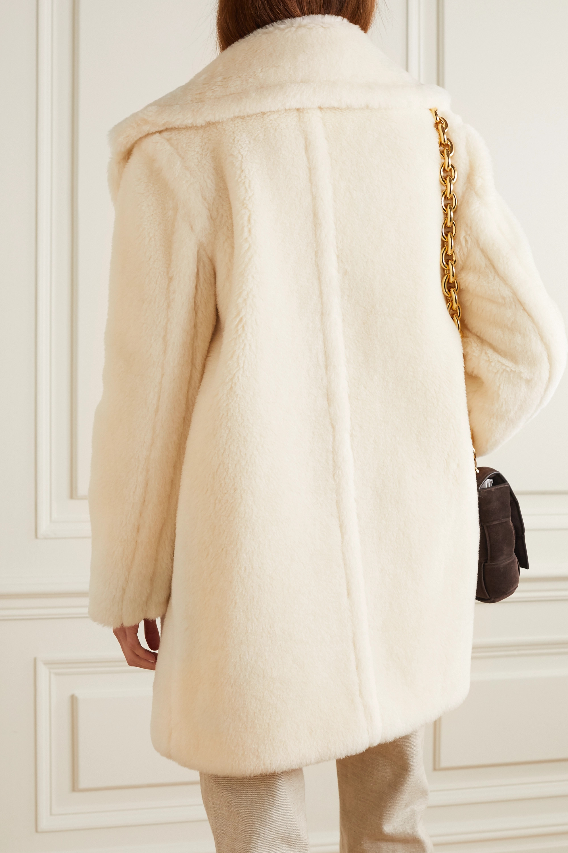 Max Mara Teddy Bear Icon Short alpaca, wool and silk-blend coat