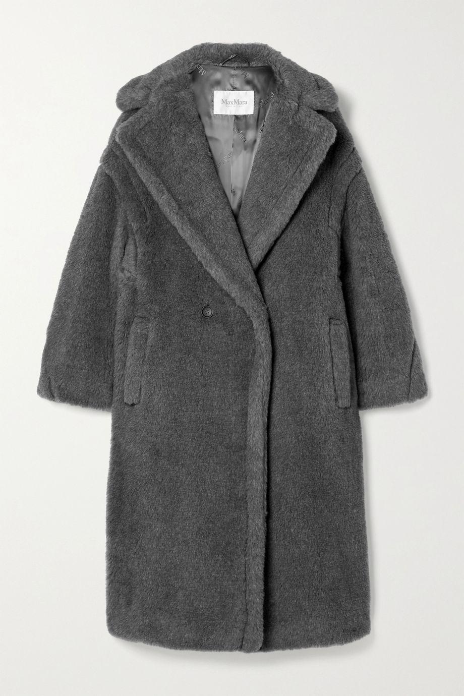 Max Mara Teddy Bear Icon Mantel aus einer Mischung aus Wolle, Alpakawolle und Seide