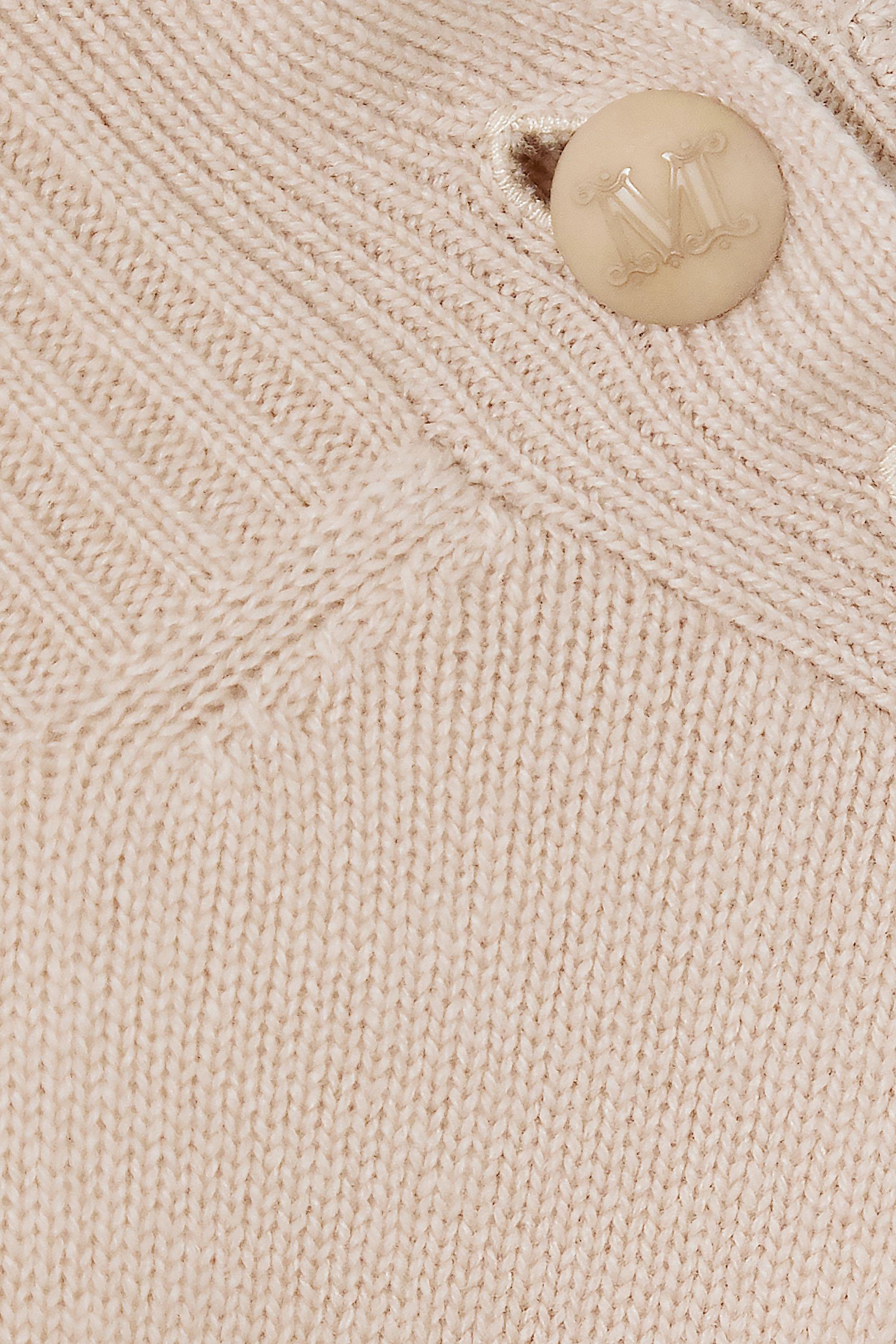 Max Mara Midikleid aus einer Woll-Kaschmirmischung mit Rollkragen und Knöpfen