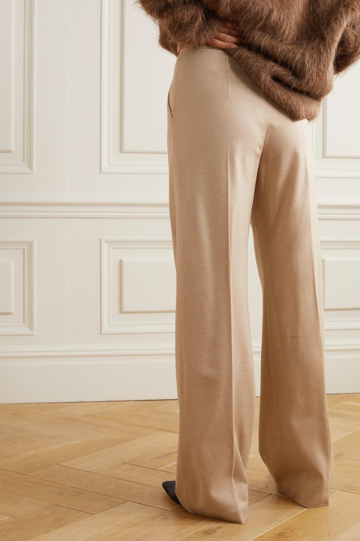 Max Mara Jadi Hose mit weitem Bein aus Kamelhaar-Jersey