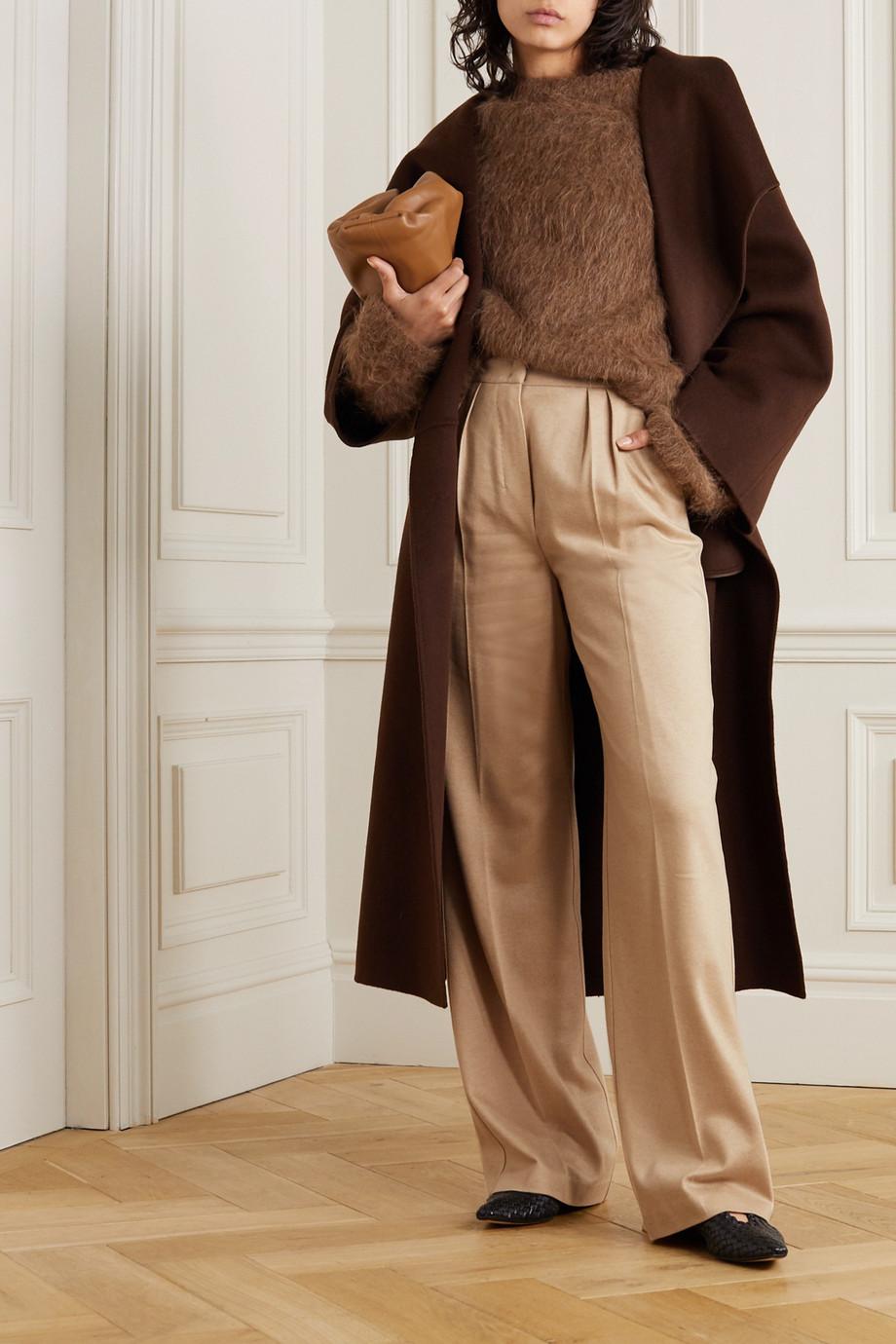 Max Mara Jadi camel hair-jersey wide-leg pants