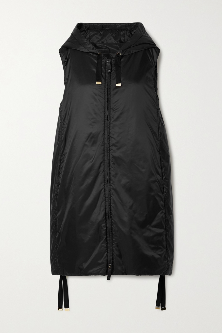 Max Mara The Cube Cameluxe hooded padded shell vest