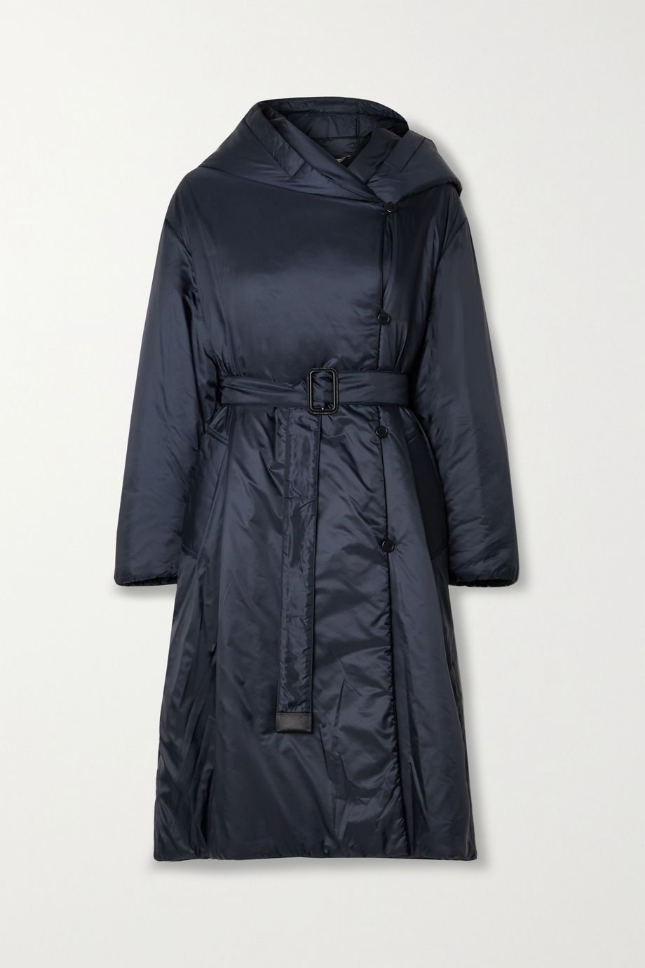 Max Mara The Cube Cameluxe belted hooded padded shell coat