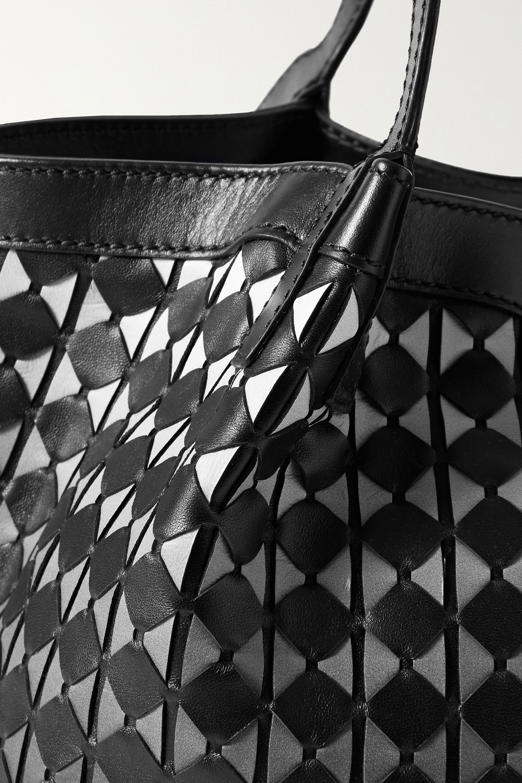 Serapian Secret small woven dégradé leather tote