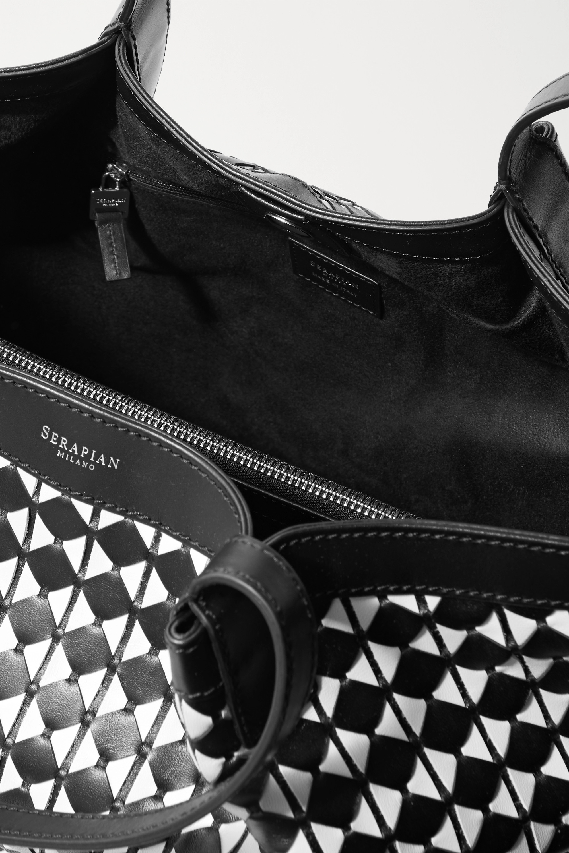 Serapian Secret woven leather tote