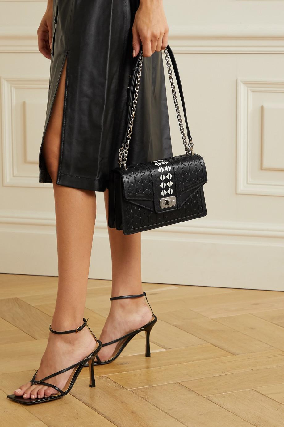 Serapian Diamante woven leather shoulder bag