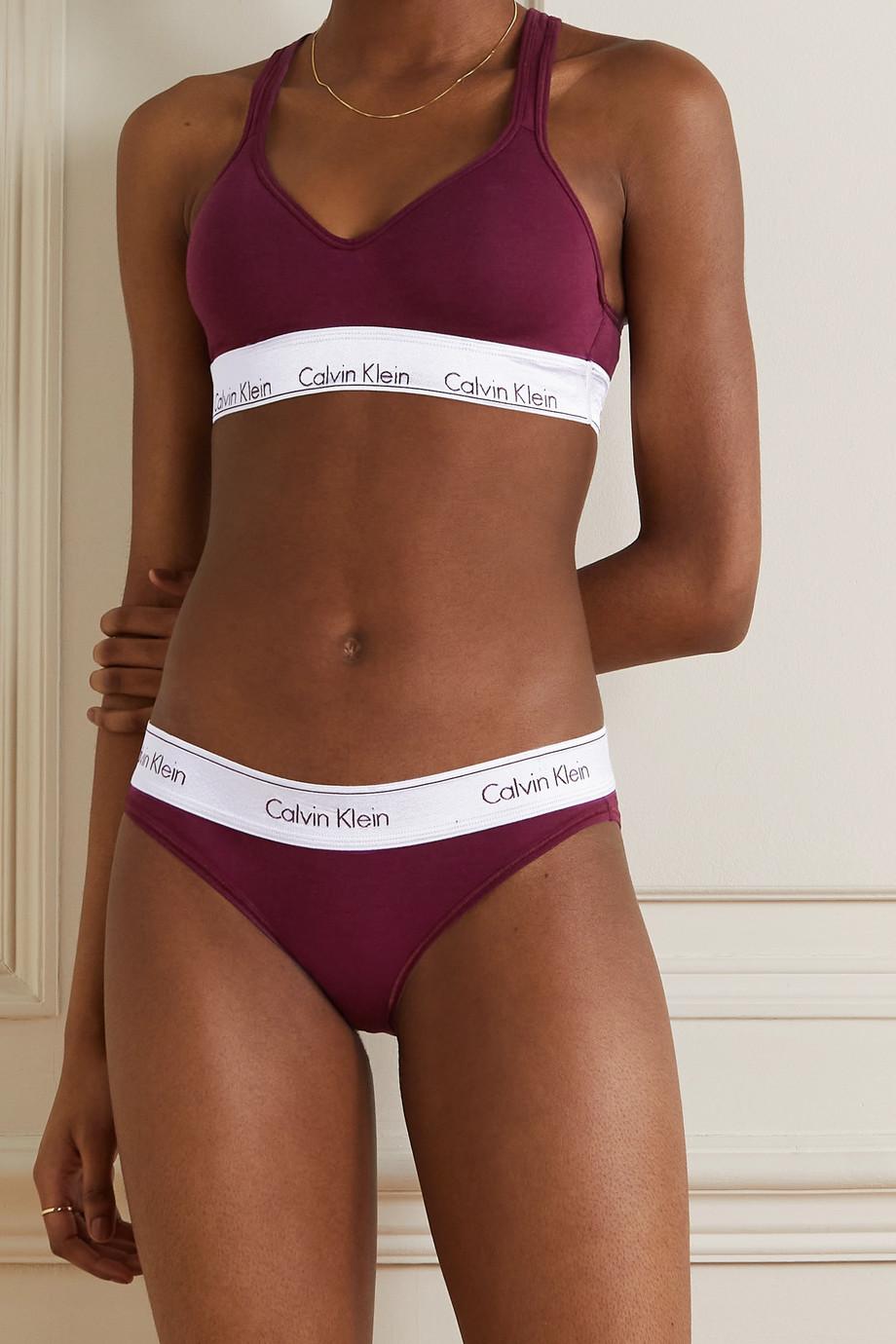 Calvin Klein Underwear Modern Cotton stretch cotton and modal-blend soft-cup bralette