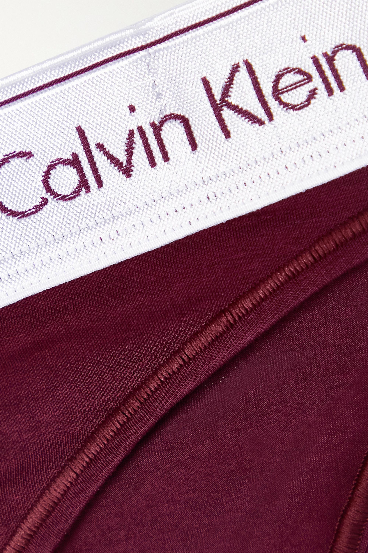 Calvin Klein Underwear Modern Cotton stretch cotton and modal-blend briefs