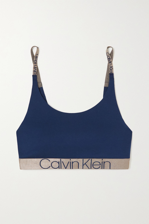 Calvin Klein Underwear Icon metallic stretch-cotton soft-cup bralette