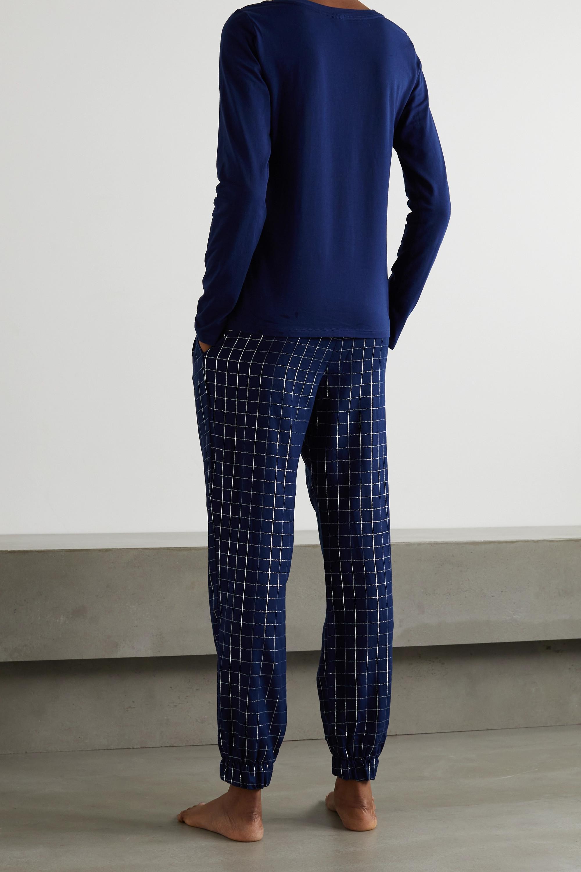 Calvin Klein Underwear Printed checked cotton-blend flannel pajama set