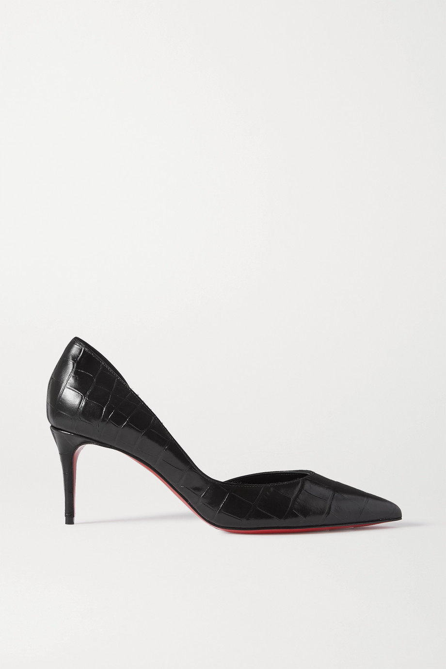 Christian Louboutin Iriza 70 croc-effect leather pumps