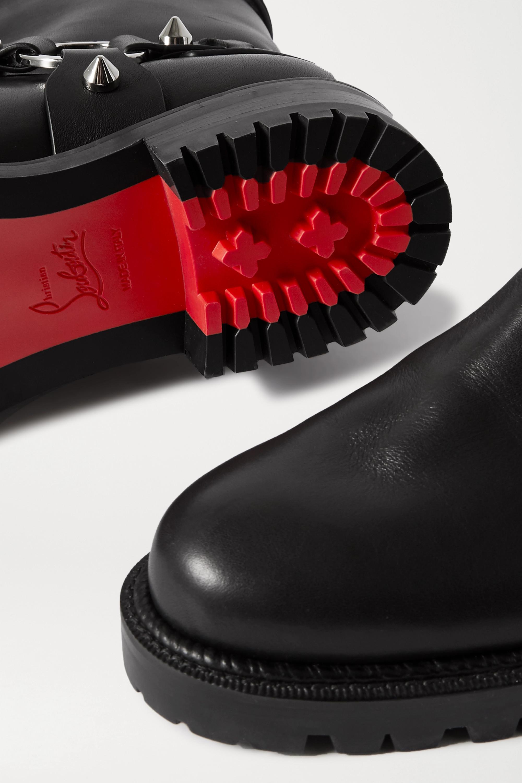 Christian Louboutin Bikita Stiefel aus Leder mit Stachelnieten
