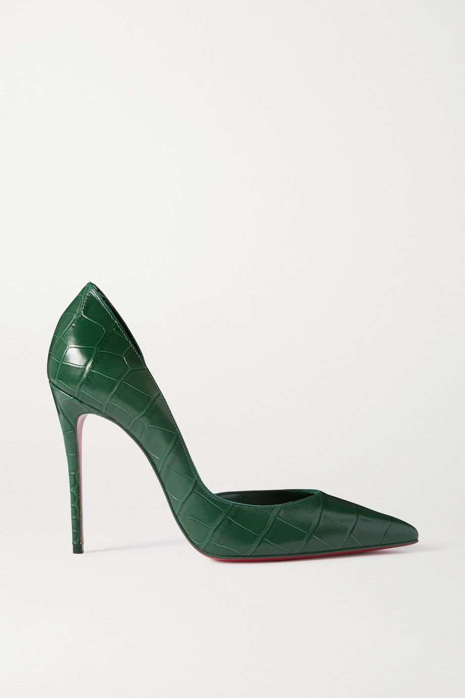 Christian Louboutin Iriza 100 croc-effect leather pumps