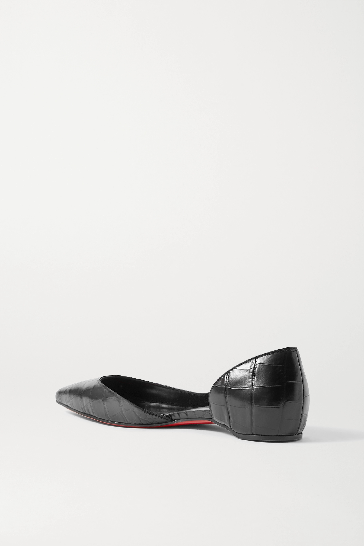 Christian Louboutin Iriza croc-effect leather point-toe flats