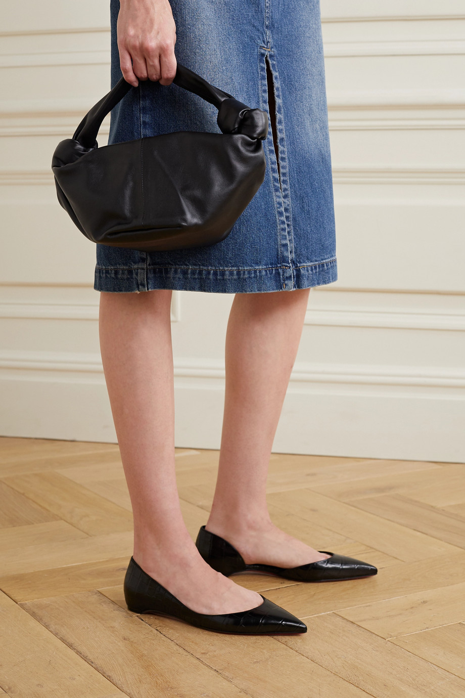 Christian Louboutin Ballerines d'Orsay à bouts pointus en cuir effet croco Iriza