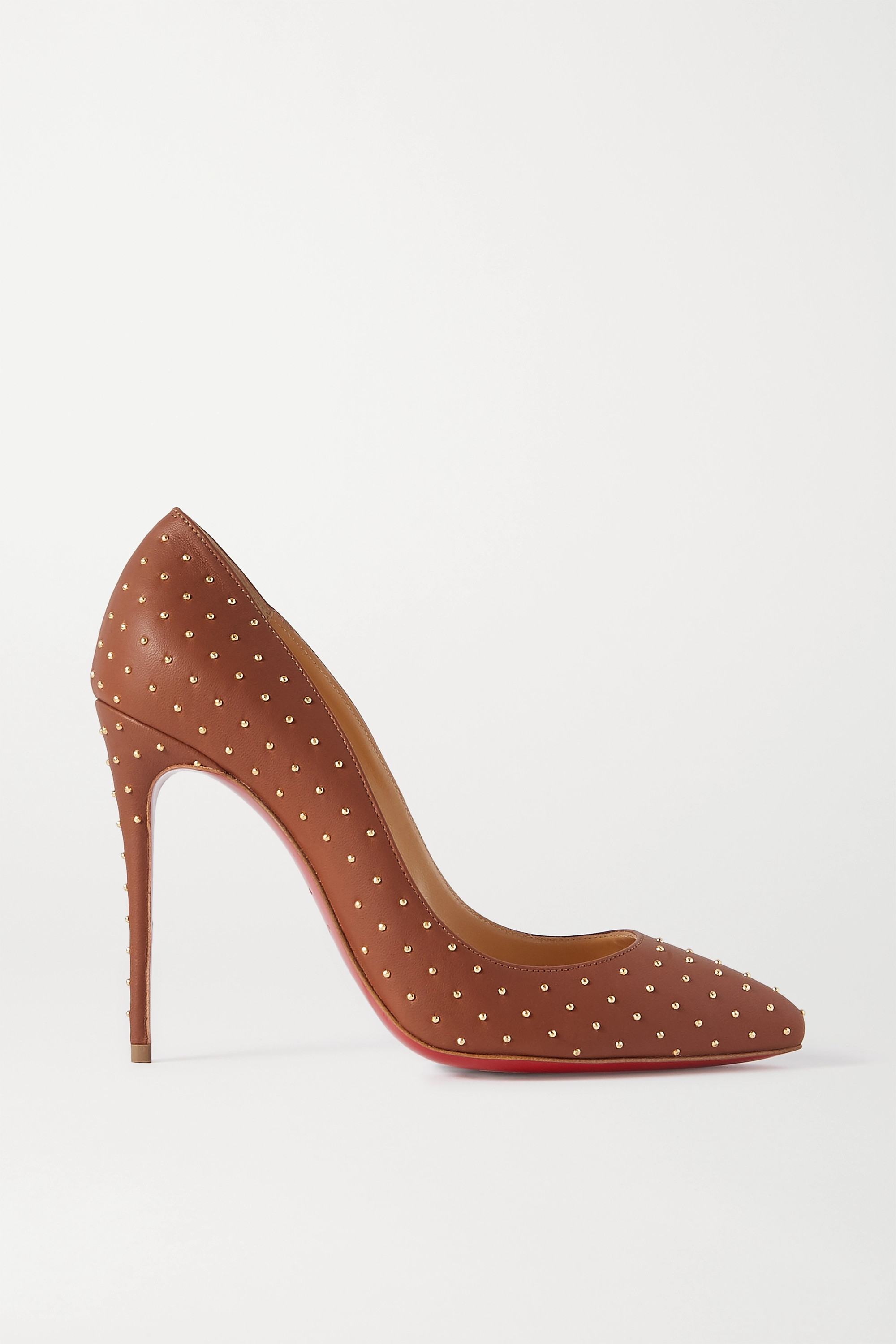 Christian Louboutin Pigalle Follies 100 studded leather pumps