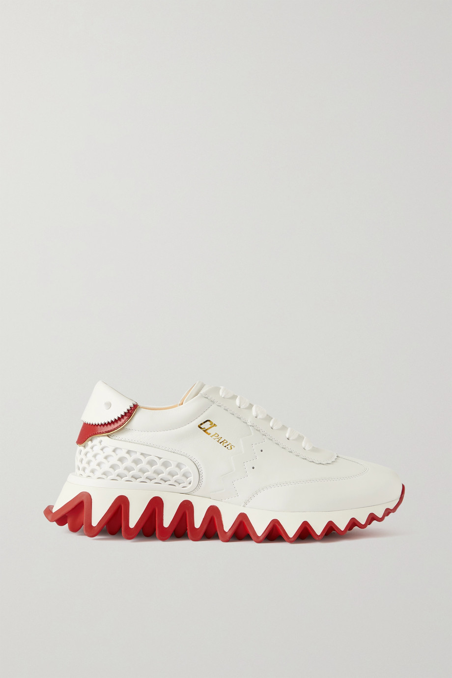 Christian Louboutin Loubi Shark leather and neoprene sneakers