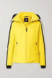 Fusalp Sidonie hooded padded striped ski jacket