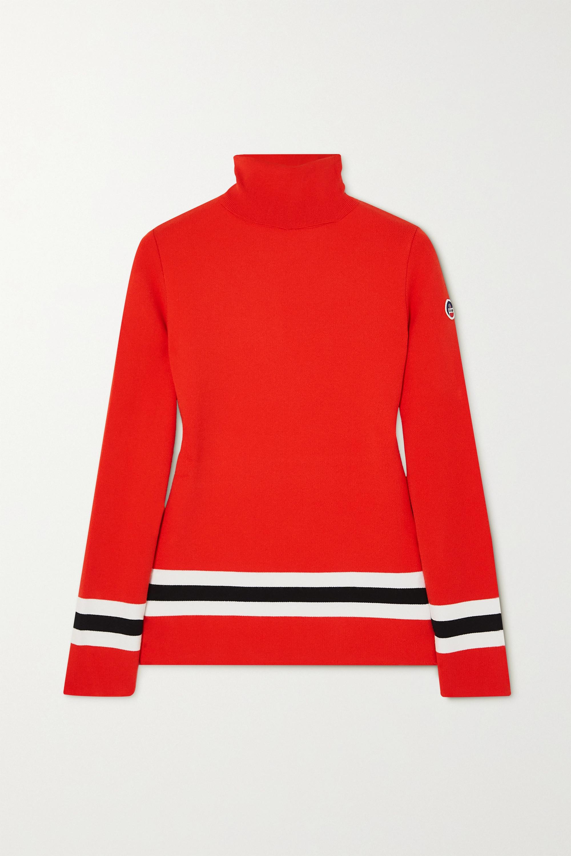 Fusalp Judith striped knitted turtleneck sweater