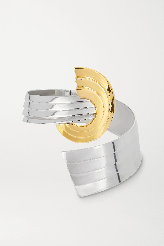 Leda Madera Meryl palladium-plated and gold-plated cuff