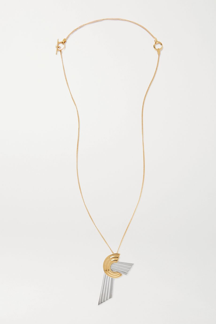 Leda Madera Meryl palladium-plated and gold-plated necklace
