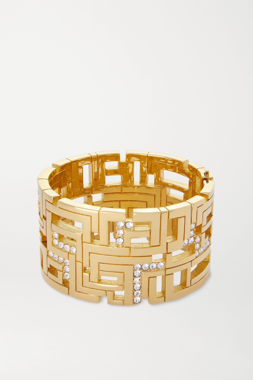 Leda Madera Goldie vergoldete Armspange mit Swarovski-Kristallen