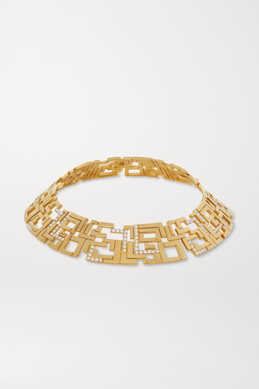 Leda Madera Goldie gold-plated Swarovski crystal choker