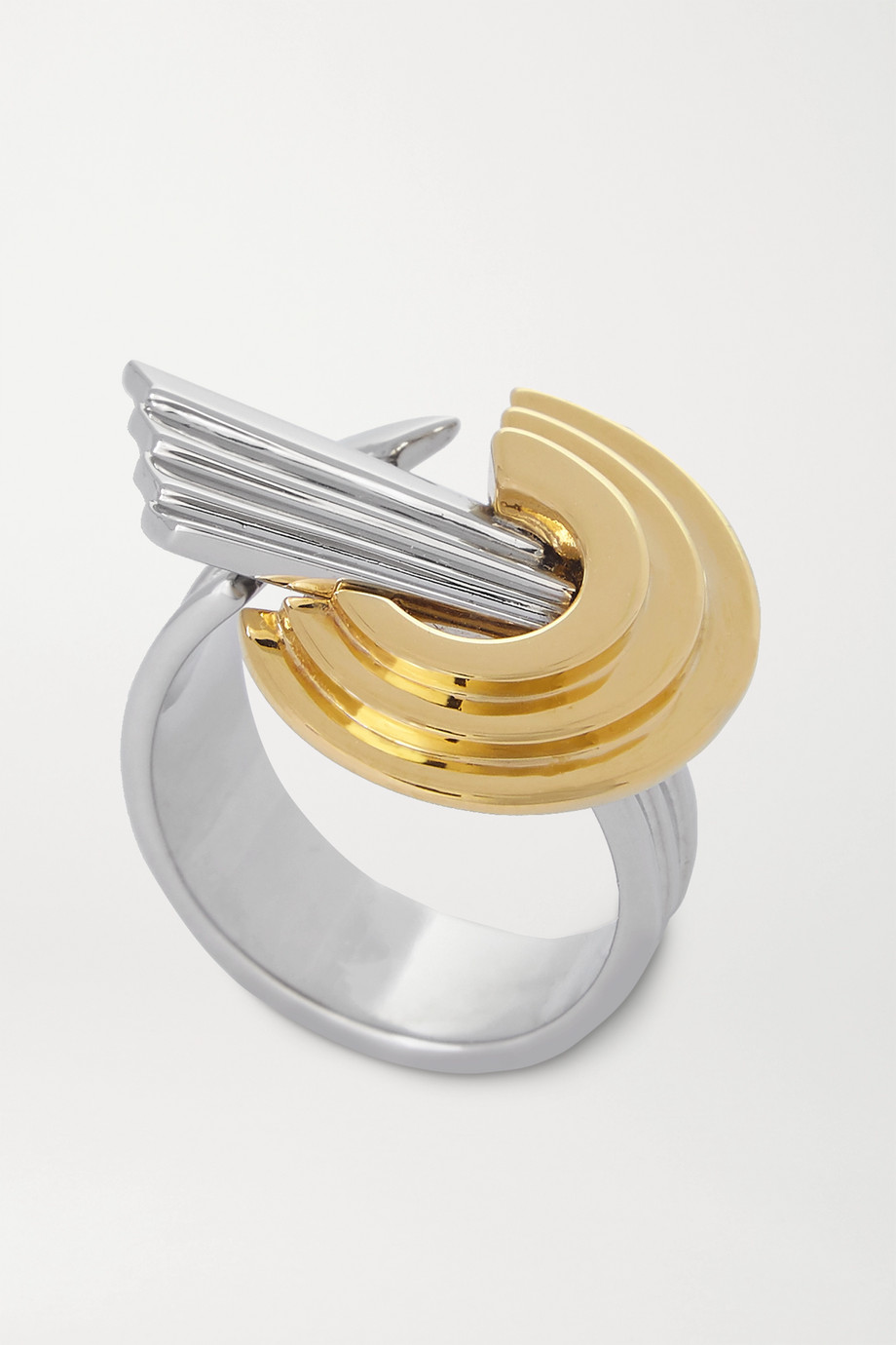 Leda Madera Meryl palladium-plated and gold-plated ring