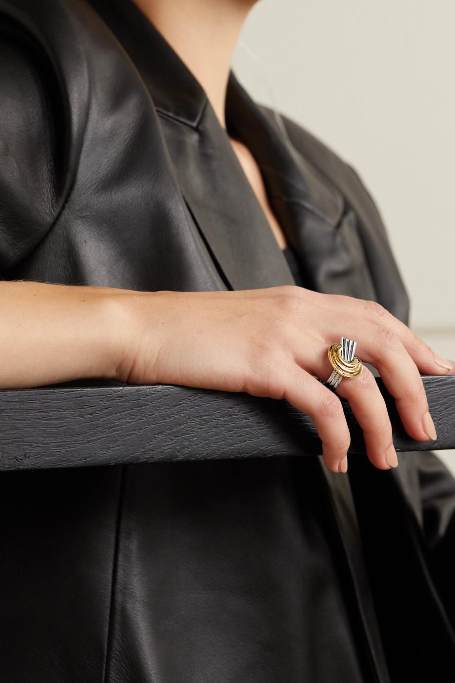 Leda Madera Meryl Ring mit Palladium- und Goldauflage