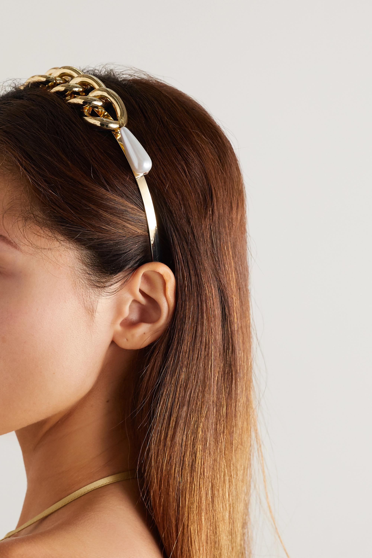 Rosantica Gold-tone faux pearl headband