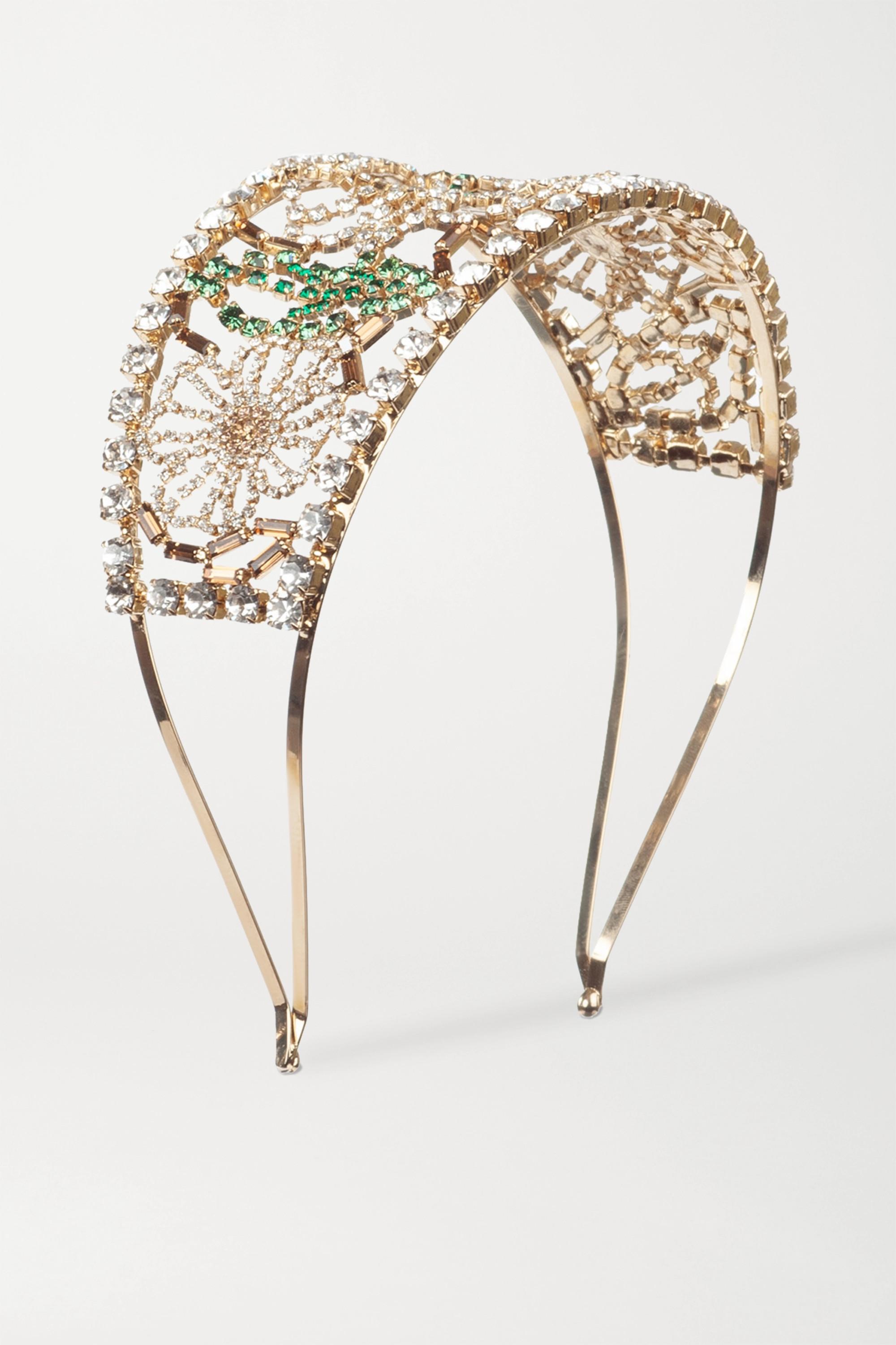 Rosantica Briscola gold-tone crystal headband