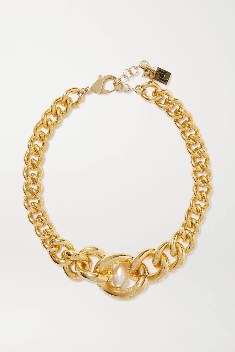 Rosantica Canasta 人造珍珠金色项圈式项链