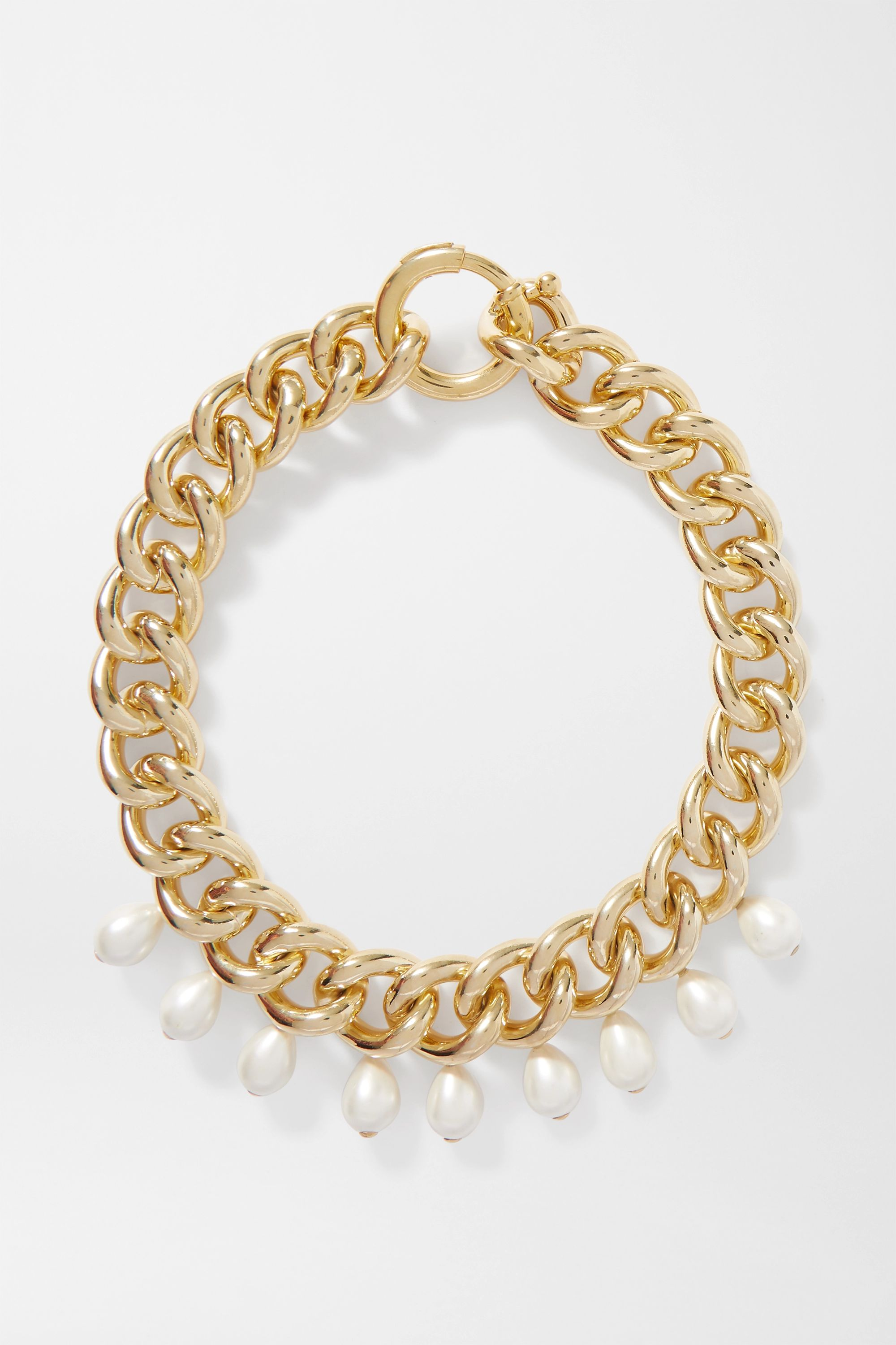 Rosantica Canasta gold-tone faux pearl necklace