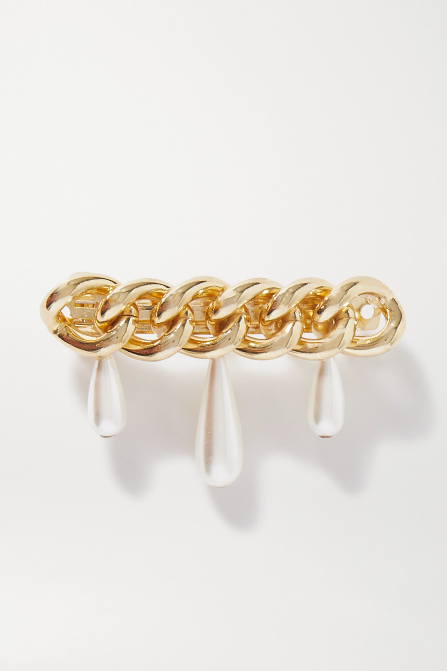 Rosantica Canasta faux pearl-embellished gold-tone hair clip