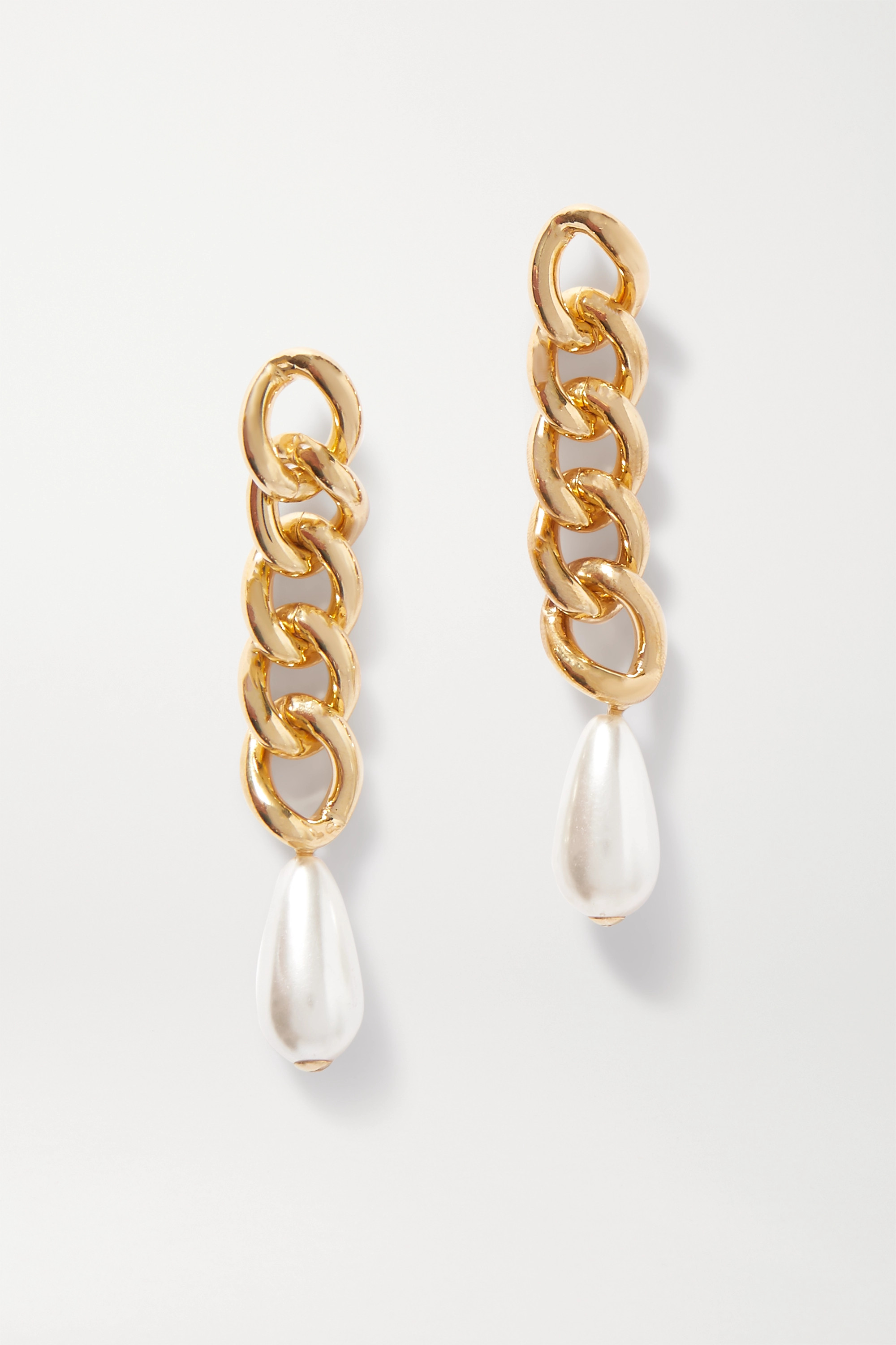 Rosantica Gold-tone faux pearl earrings