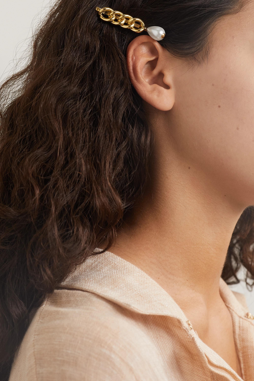 Rosantica Canasta gold-tone faux pearl hair slide