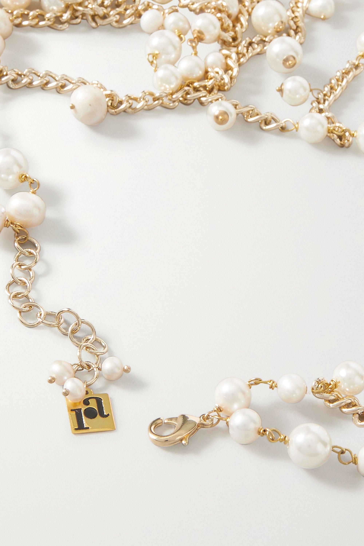 Rosantica Chimera gold-tone pearl body chain