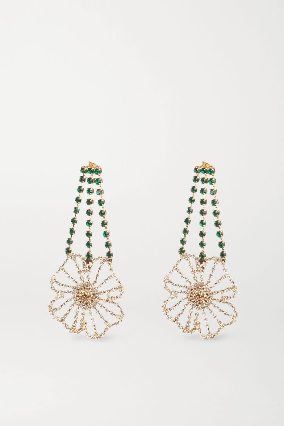 Rosantica Gold-tone crystal earrings