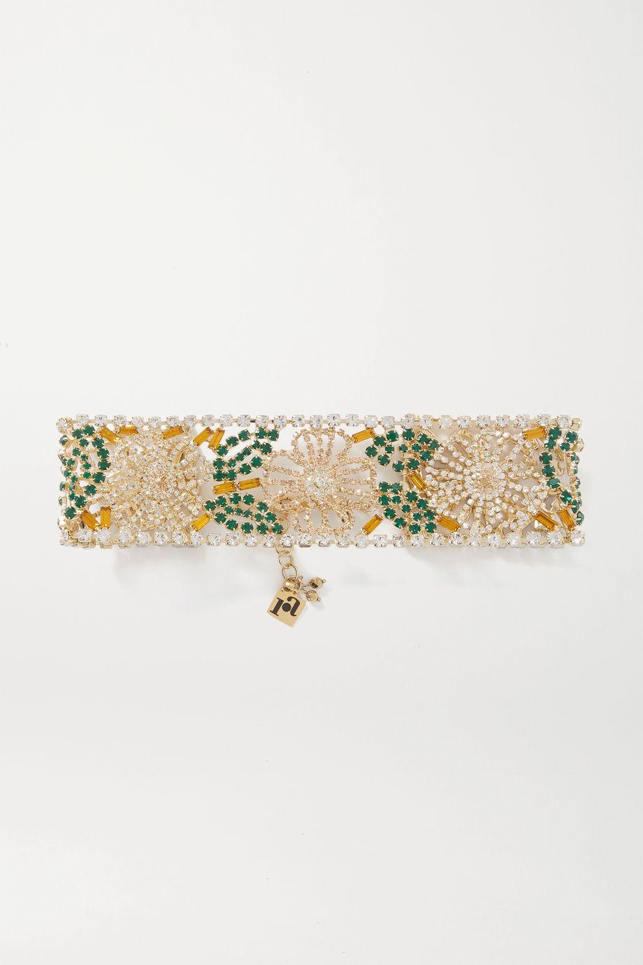 Rosantica Briscola 水晶金色项圈式项链