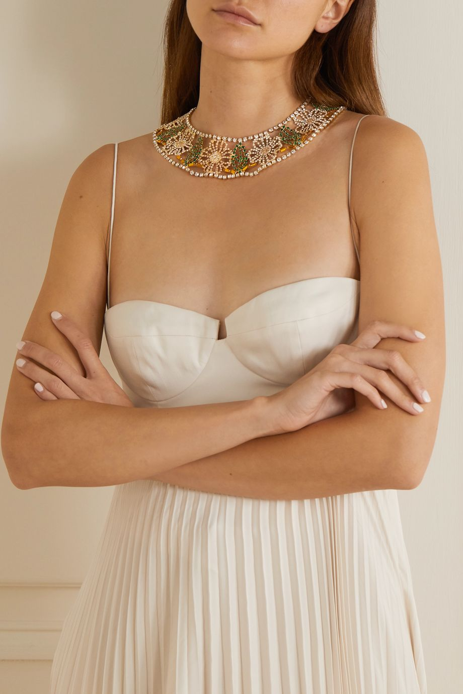 Rosantica Gold-tone crystal necklace