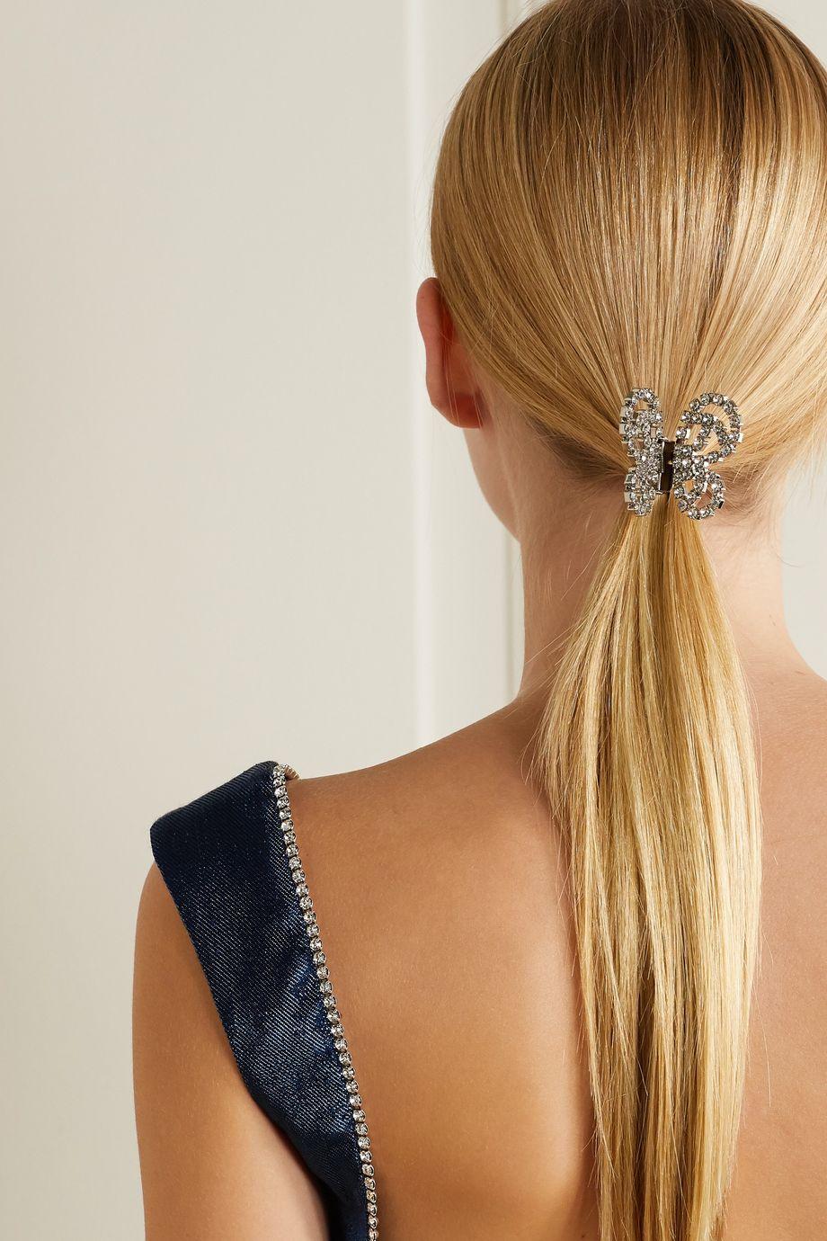 AREA Silver-tone crystal hair clip