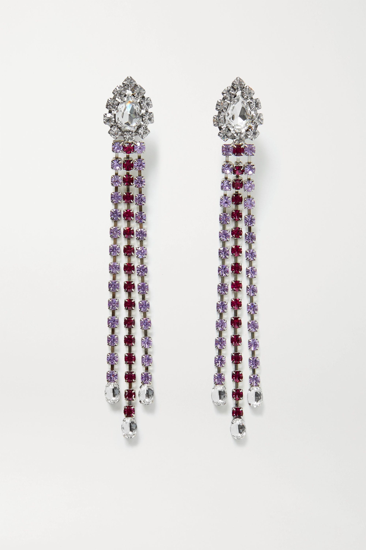 AREA Silberfarbene Ohrringe mit Kristallen