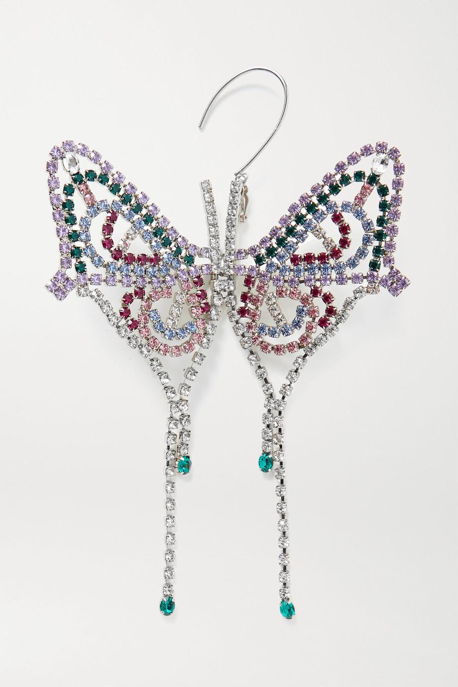 AREA Silberfarbener Ohrring mit Kristallen