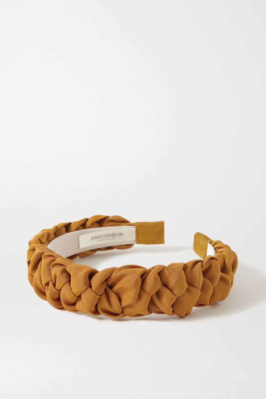 Jennifer Behr Lori braided silk-faille headband