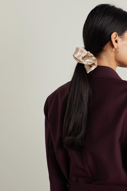 Jennifer Behr + NET SUSTAIN hammered stretch-silk hair tie
